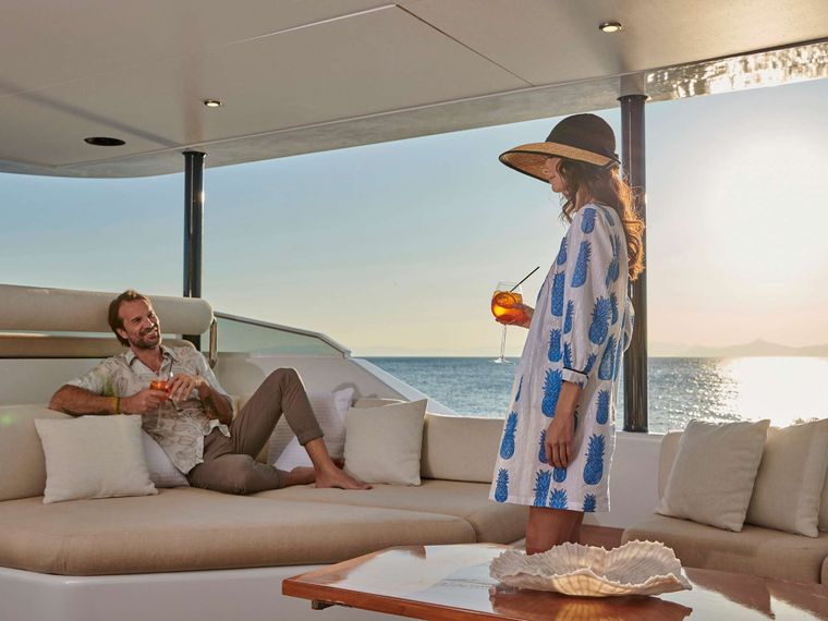 MIA ZOI Yacht Charter - Sunset cocktails