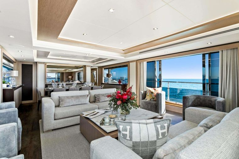 FRATELLI Yacht Charter - Main Salon and Dining area