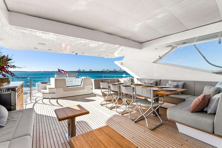 FRATELLI Yacht Charter - Upper Sundeck and Jacuzzi