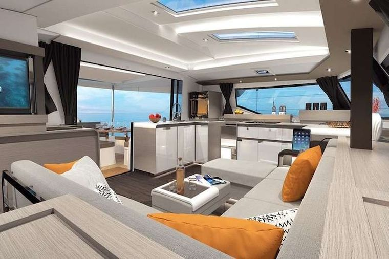 HERO'S JOURNEY Yacht Charter - Salon and Galley