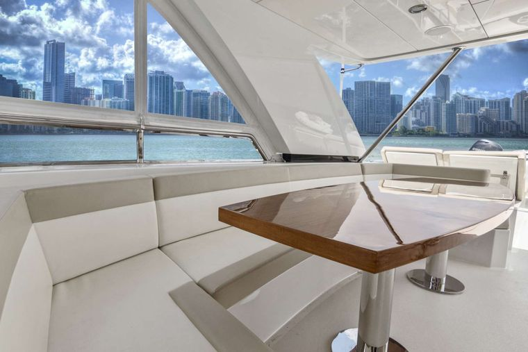 OCEAN ROSE Yacht Charter - Flybridge dining