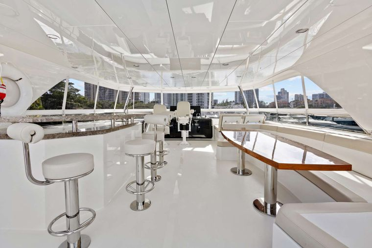 OCEAN ROSE Yacht Charter - Flybridge view fwd