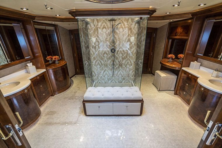 DREAM Yacht Charter - His and Hers Master bath