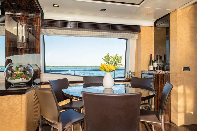 PHOENIX Yacht Charter - Dining Table