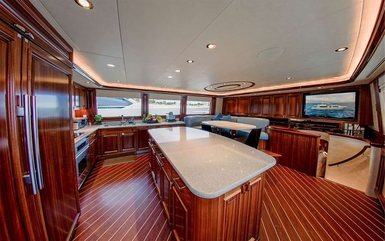 LADY JJ Yacht Charter - Galley w/ seating