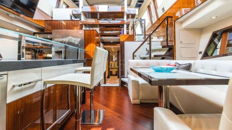 HELIOS Yacht Charter - Galley/dining area