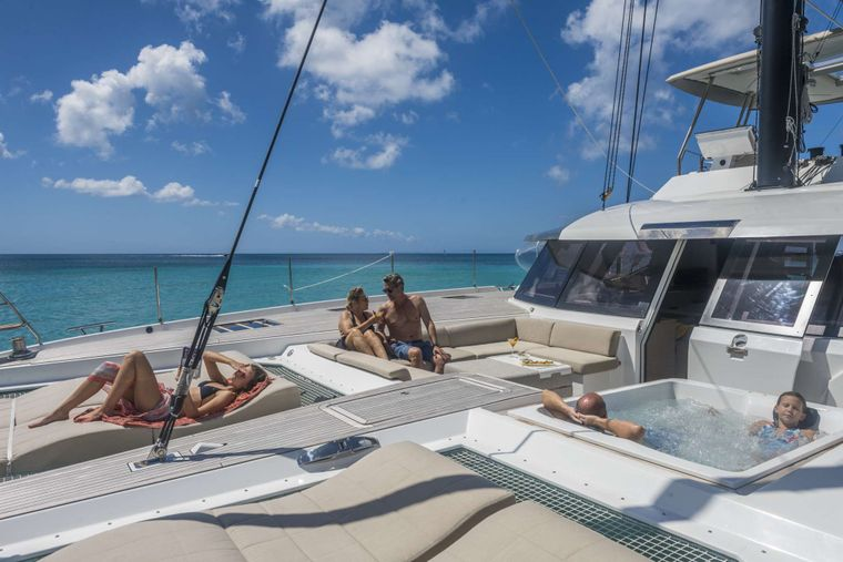 Lisa of the Seas Yacht Charter - Foredeck / Jacuzzi