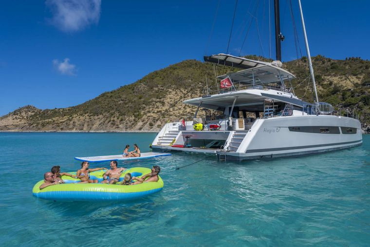 Lisa of the Seas Yacht Charter - Aft Deck with Water toys