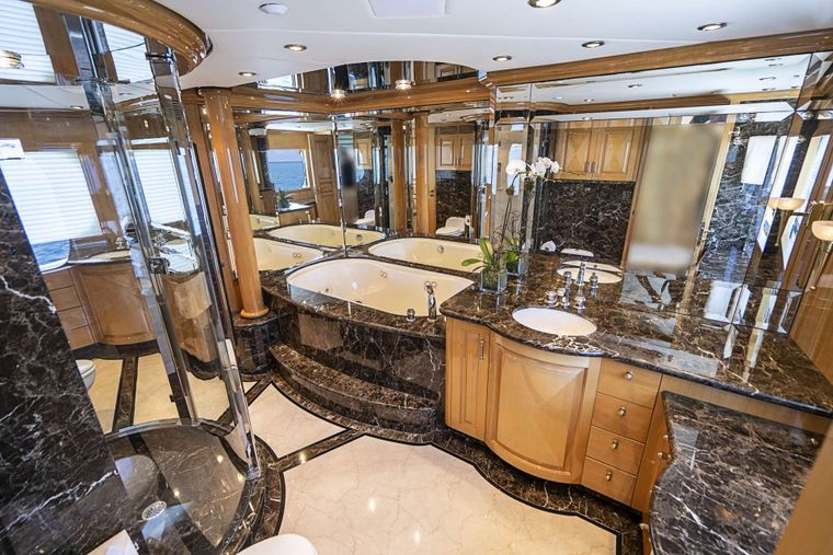 REFLECTIONS Yacht Charter - His and Hers Master bath