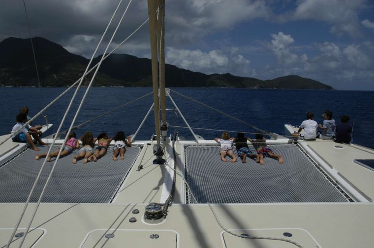 LONESTAR Yacht Charter - Large trampolines for relaxing
