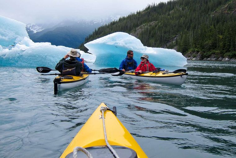 Snow Goose Yacht Charter - 2 Person Eddyline kayaks are ideal to explore the melting snowcaps