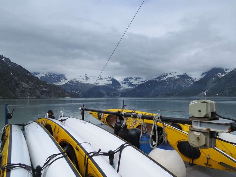 Snow Goose Yacht Charter - 6 -2 person 6 Eddyline Whisper Cabonlite 2000 kayaks.  Spray skirts, PFD, and Paddles are provided with an additional single person kayak for the Naturalist to guide