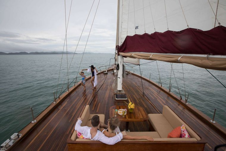 ORIENT PEARL Yacht Charter - Huge Foredeck with great views