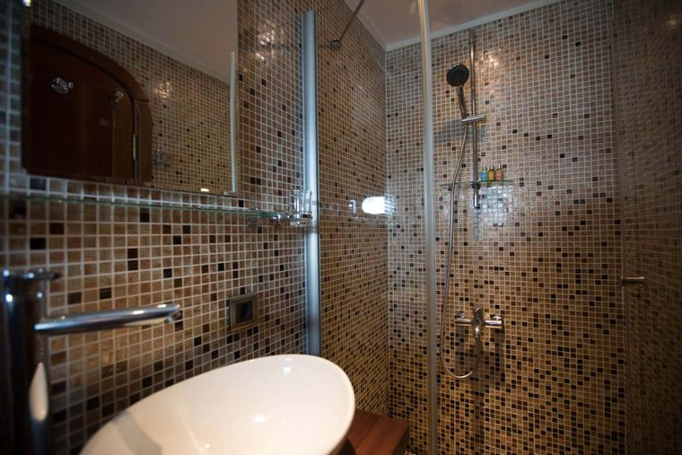 ORIENT PEARL Yacht Charter - Master shower and toilet