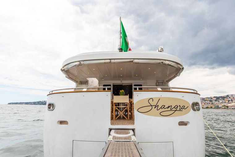 SHANGRA Yacht Charter - At the bow