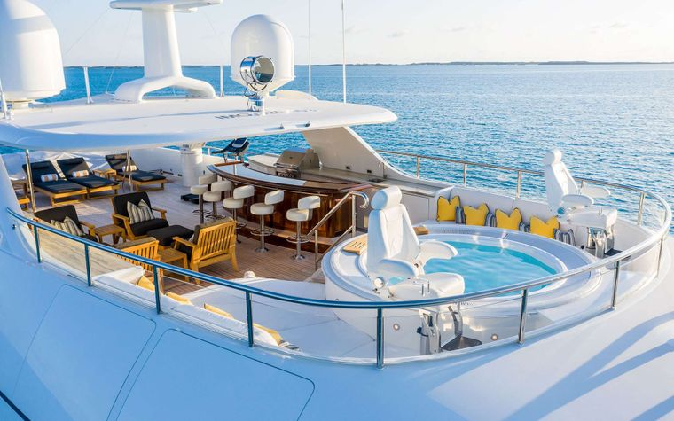 PURE BLISS Yacht Charter - Jacuzzi deck