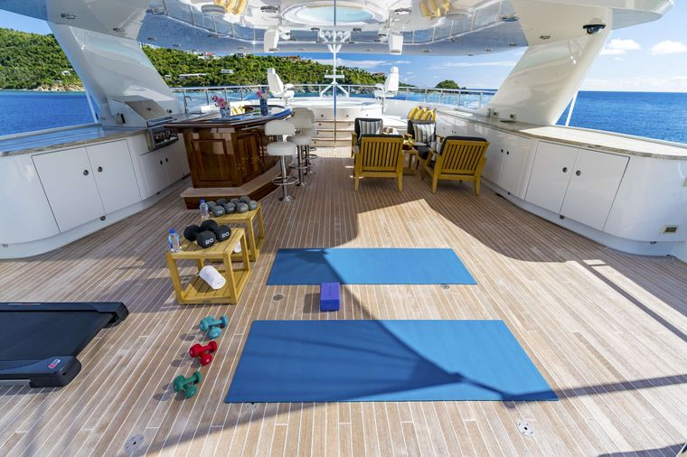 PURE BLISS Yacht Charter - Pure Bliss Exercise set up