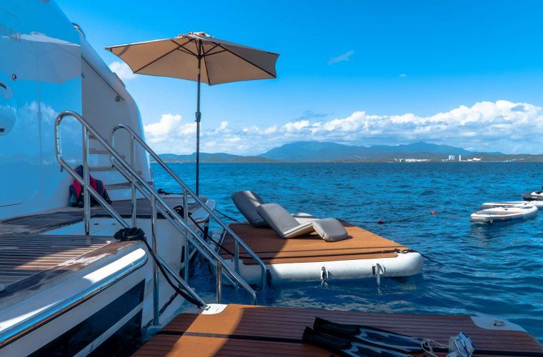 PURE BLISS Yacht Charter - Extended water play