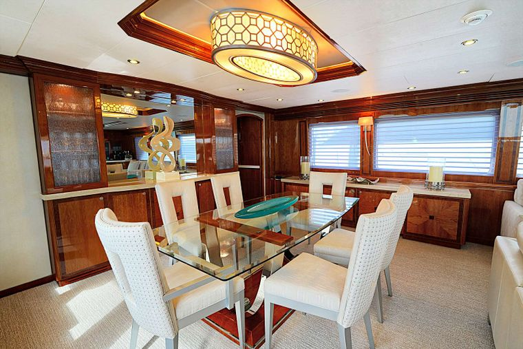 STERLING V Yacht Charter - Formal Dining