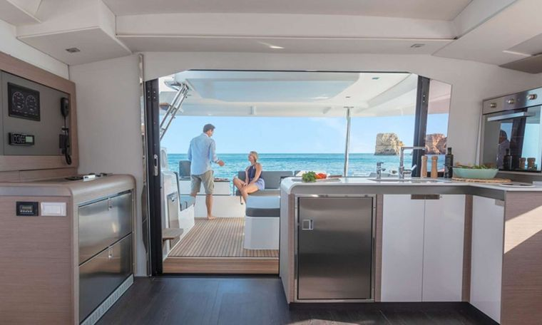 InDoses Yacht Charter - Galley / Cockpit