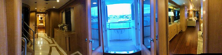 GRANDE AMORE Yacht Charter - Main Deck Corridor with Balcony and Elevator