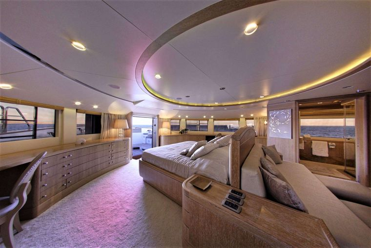 GRANDE AMORE Yacht Charter - Master Cabin on Main Deck with 2 en suite bathrooms & private terrace