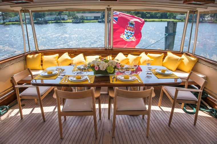 BB Yacht Charter - Aft Deck Dining Area