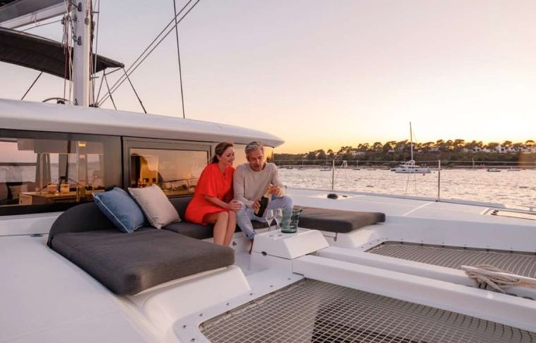 CELAVIE Yacht Charter - Foredeck lounge area