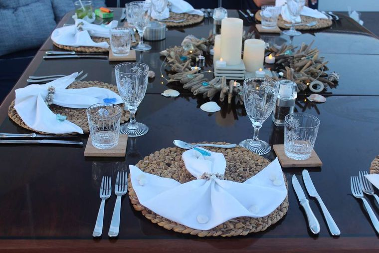 ODIN Yacht Charter - Table setting