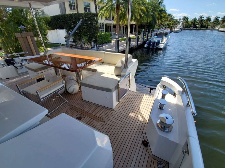 No Name Yacht Charter - Aft Deck Seating