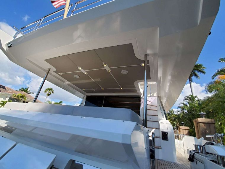 No Name Yacht Charter - Aft Deck & Stairway