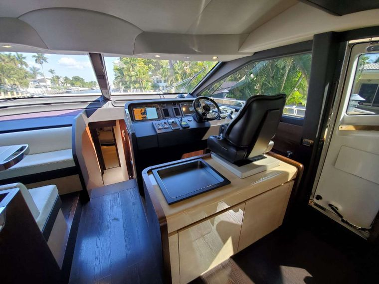 No Name Yacht Charter - Below Helm & Seating