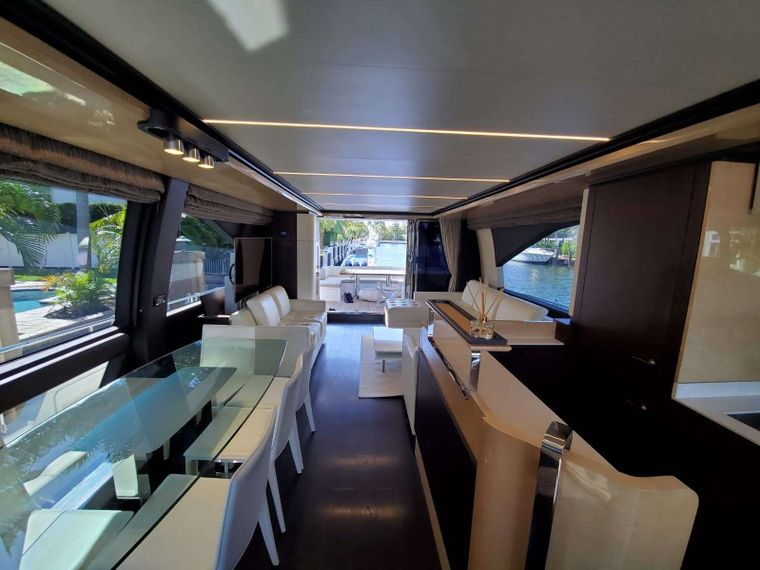 No Name Yacht Charter - Interior Looking Aft