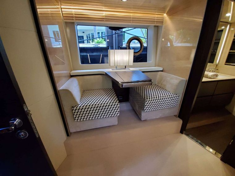 No Name Yacht Charter - Master Suite Seating Area