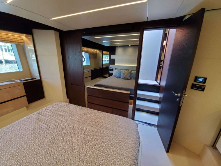 No Name Yacht Charter - Master Suite TV Entrance