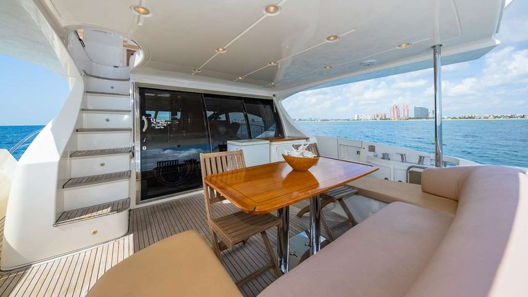 WICKED Yacht Charter - Aft Deck