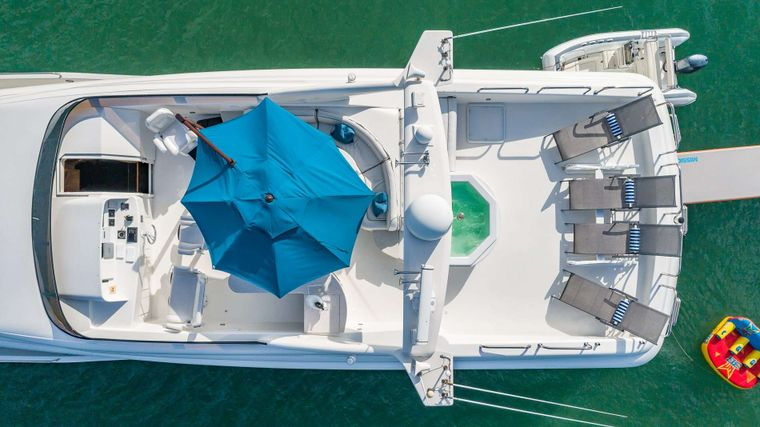IV TRANQUILITY Yacht Charter - Flybridge aerial