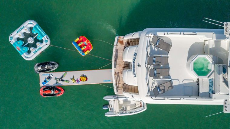 IV TRANQUILITY Yacht Charter - Water toy aerial