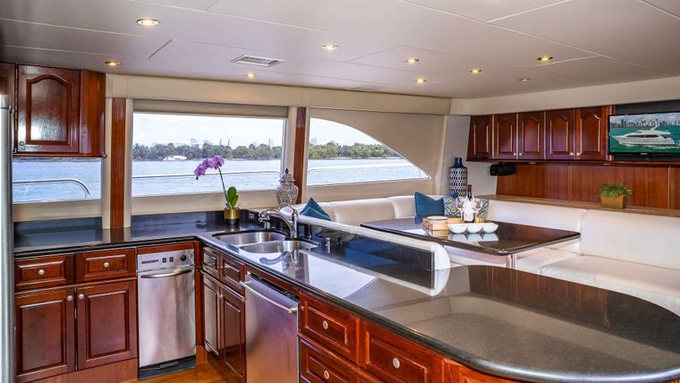 IV TRANQUILITY Yacht Charter - Galley and seating