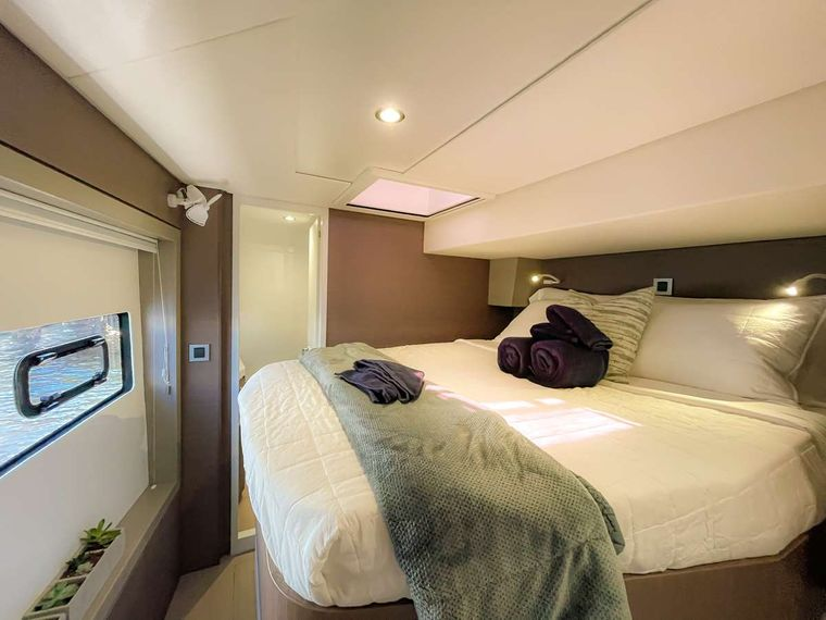 KORU Yacht Charter - Spacious forward guest accommodation #3