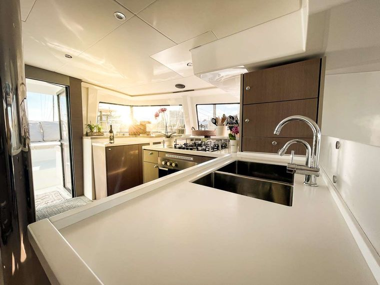 KORU Yacht Charter - Stylish and elegant galley - where the magic happens!