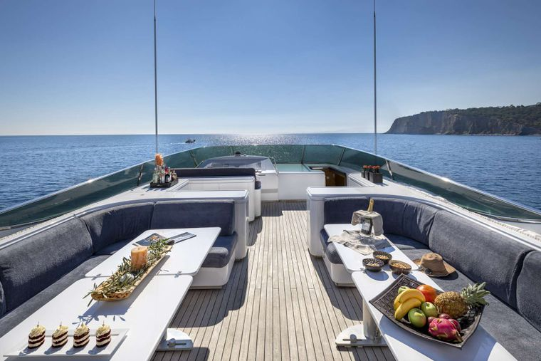 ANDILIS Yacht Charter - Upper Deck Another View