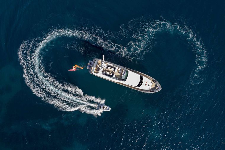 ANDILIS Yacht Charter - Above View