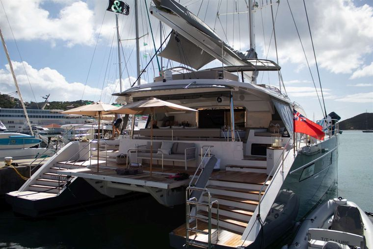 ALLURE 64 Yacht Charter - At the dock