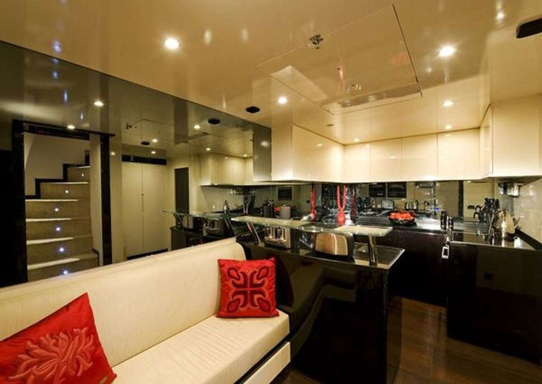 CLAREMONT Yacht Charter - Galley