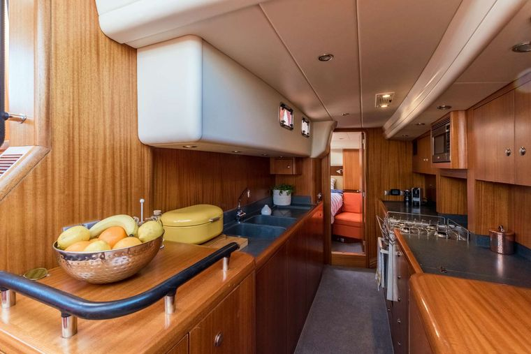 LUNULATA Yacht Charter - Alt view of Galley