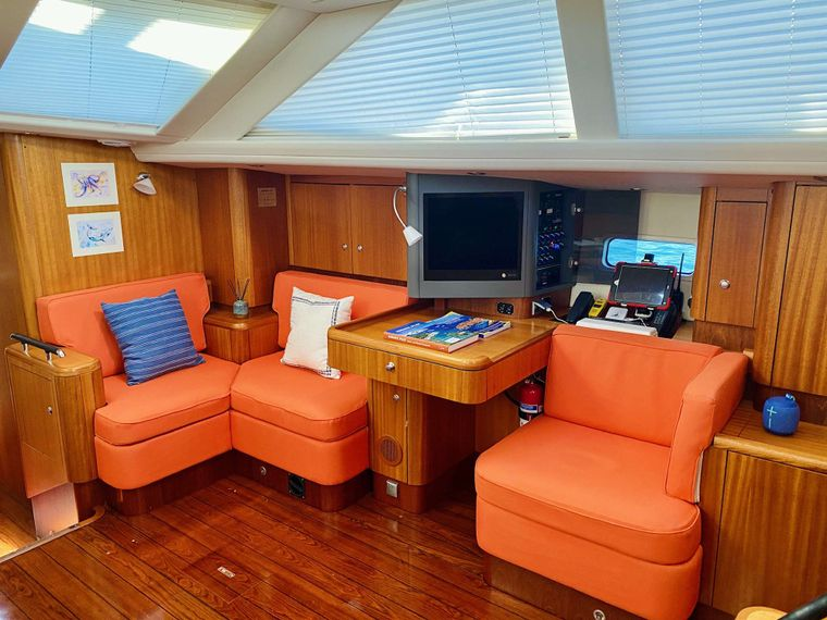 LUNULATA Yacht Charter - Comfortable Seating Area
