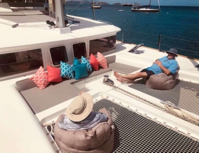 MAKIN' MEMORIES (Cat) Yacht Charter - Lounging on the bow