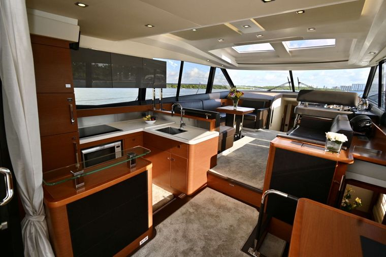 60 Prestige Yacht Charter - Galley and Dinning