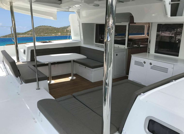 MISS SUMMER Yacht Charter - Aft Cockpit Area